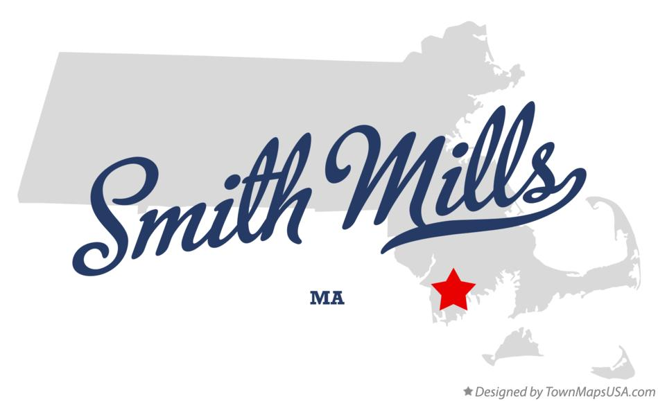 Map of Smith Mills Massachusetts MA