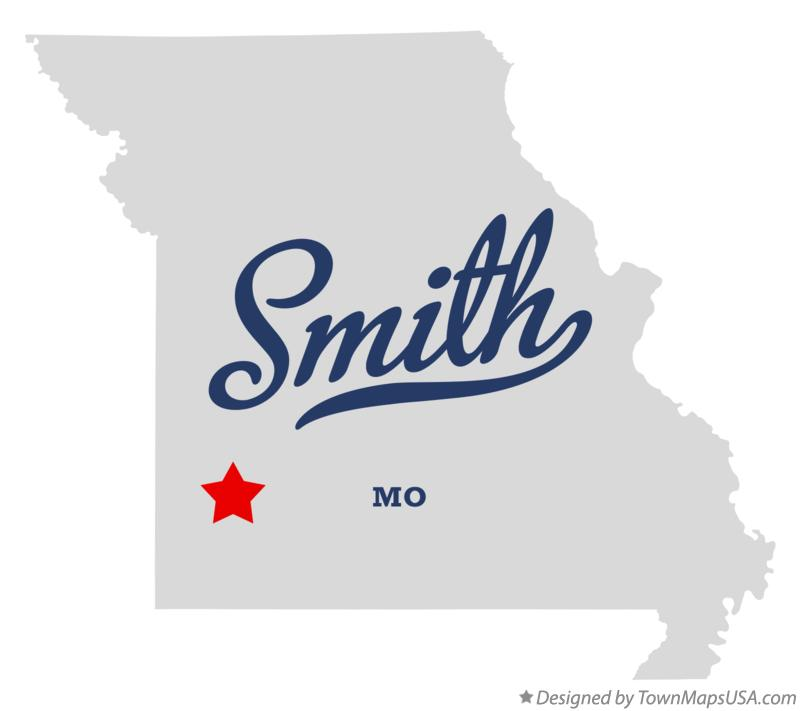 Map of Smith Missouri MO
