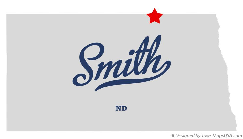 Map of Smith North Dakota ND