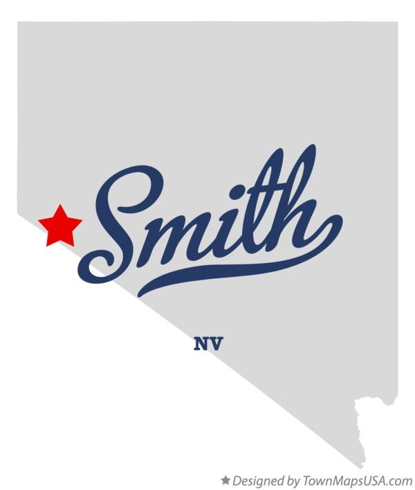 Map of Smith Nevada NV