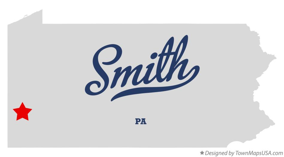 Map of Smith Pennsylvania PA