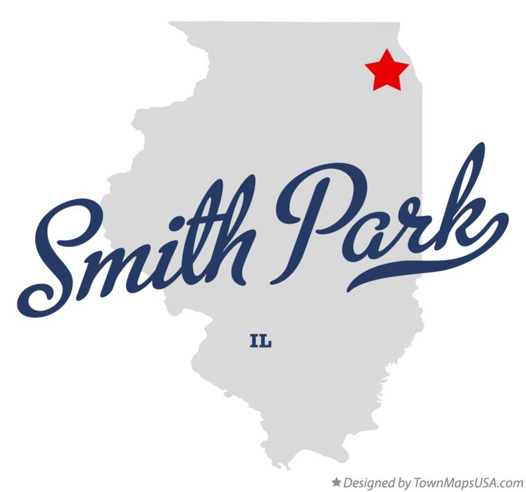 Map of Smith Park Illinois IL