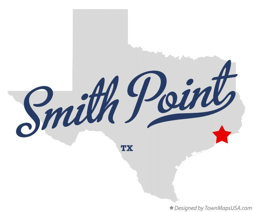 Map of Smith Point Texas TX