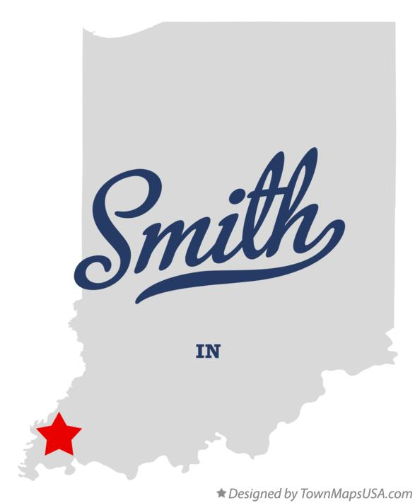 Map of Smith Indiana IN