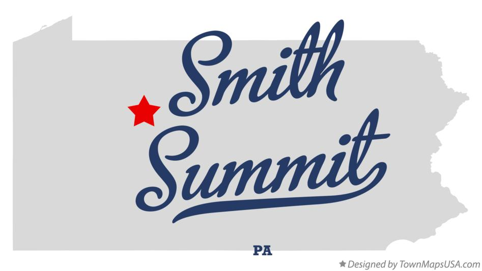 Map of Smith Summit Pennsylvania PA