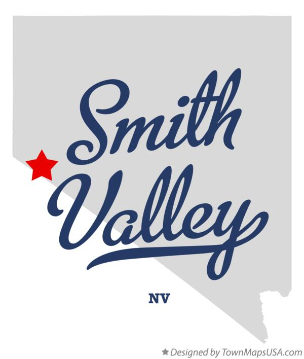 Map of Smith Valley Nevada NV