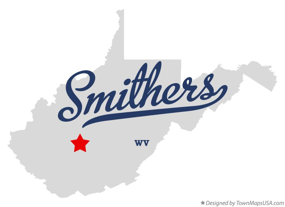 Map of Smithers West Virginia WV