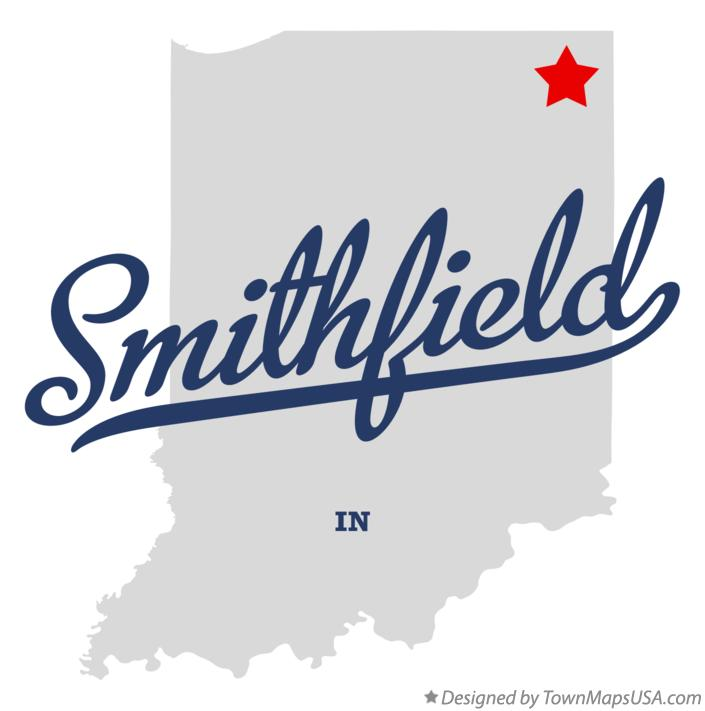 Map of Smithfield Indiana IN
