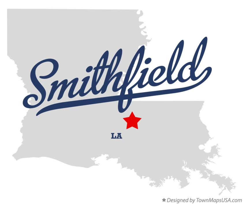 Map of Smithfield Louisiana LA