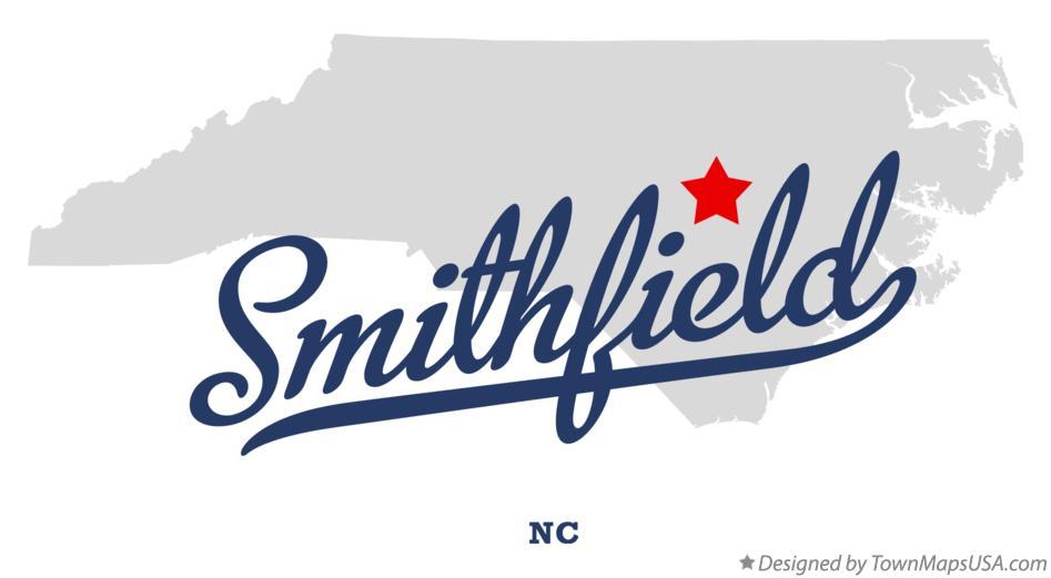 Map of Smithfield, NC, North Carolina