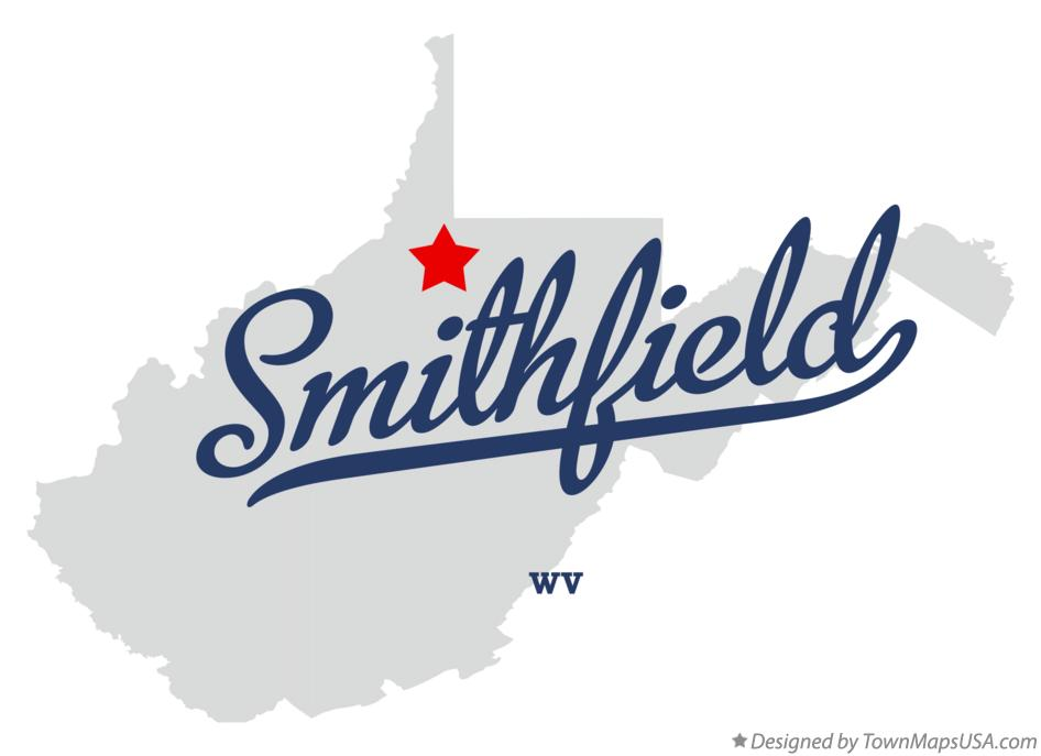 Map of Smithfield West Virginia WV