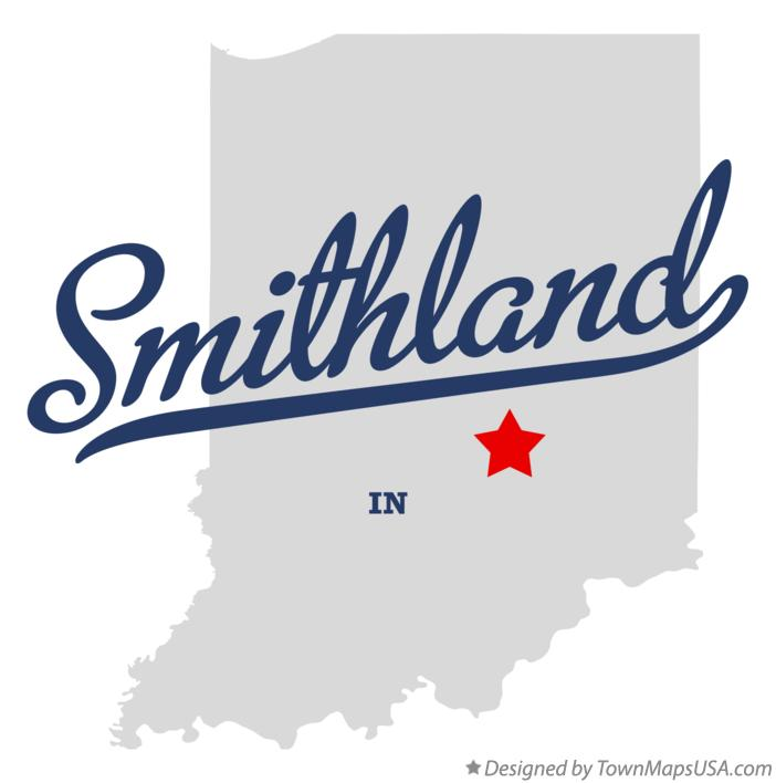 Map of Smithland Indiana IN