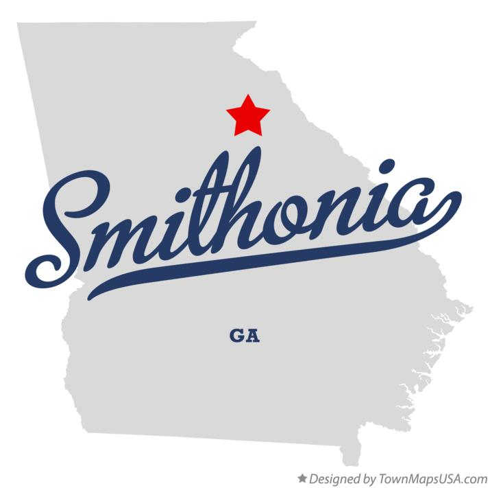 Map of Smithonia Georgia GA