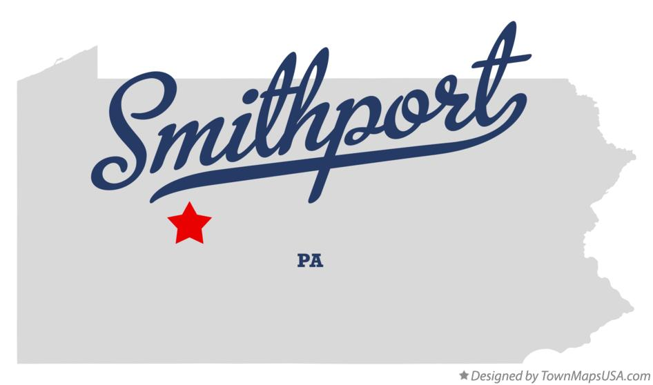 Map of Smithport Pennsylvania PA