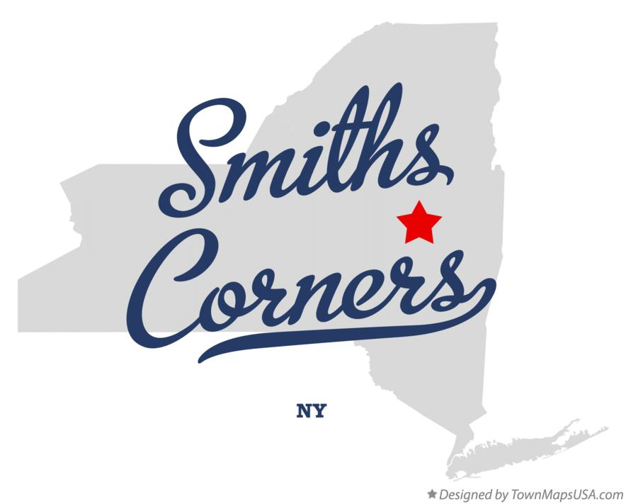 Map of Smiths Corners New York NY