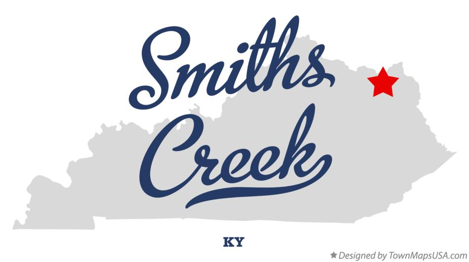 Map of Smiths Creek Kentucky KY