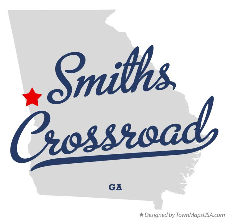 Map of Smiths Crossroad Georgia GA