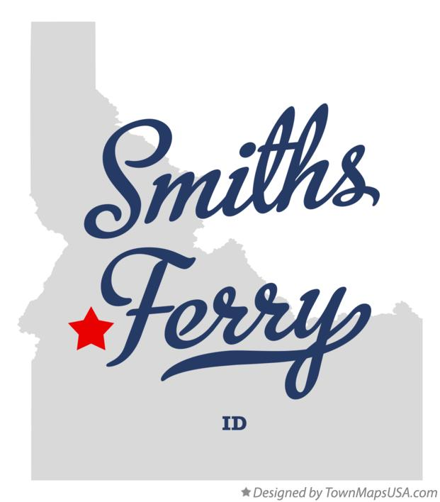 Map of Smiths Ferry Idaho ID