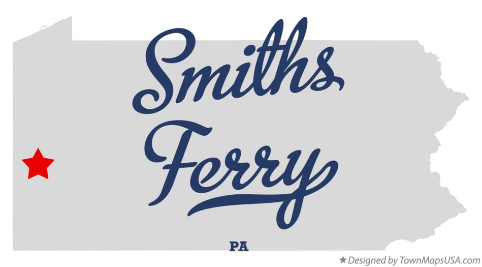 Map of Smiths Ferry Pennsylvania PA