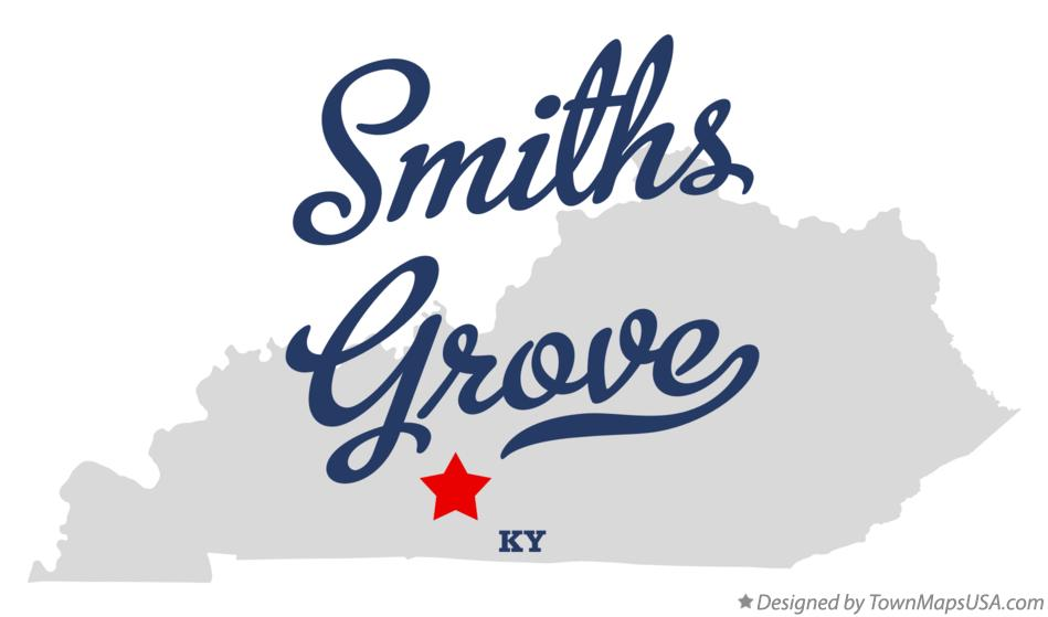 Map of Smiths Grove Kentucky KY