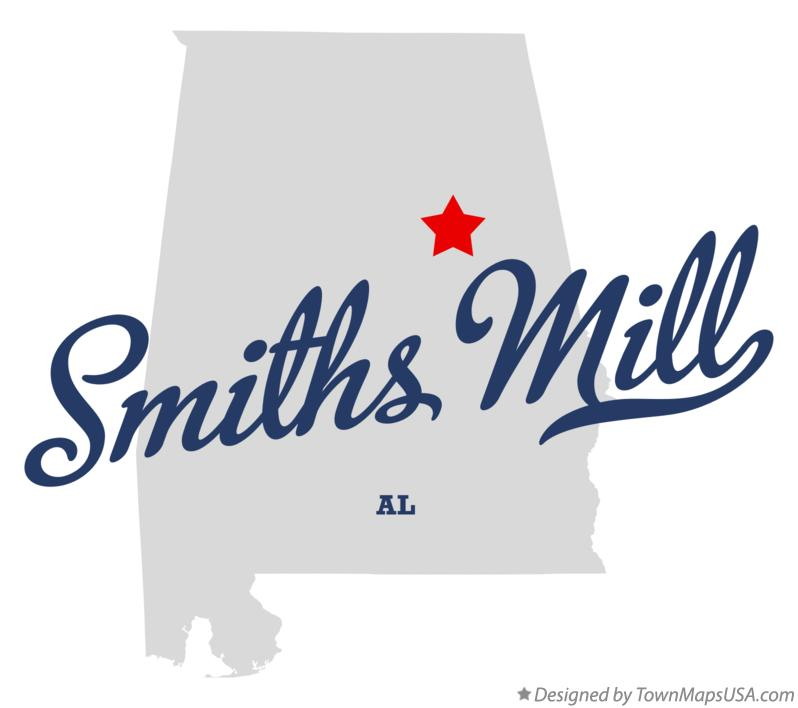 Map of Smiths Mill Alabama AL