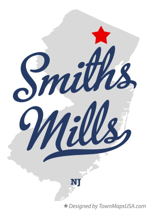 Map of Smiths Mills New Jersey NJ