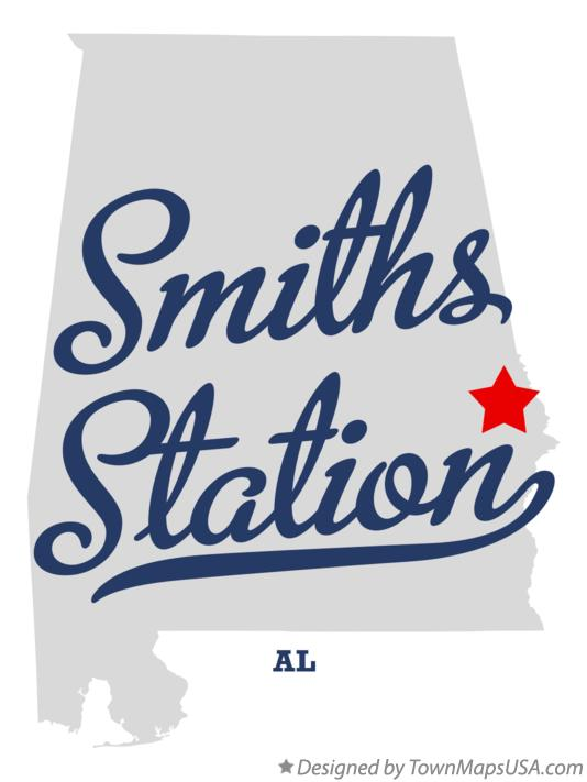 Map of Smiths Station Alabama AL