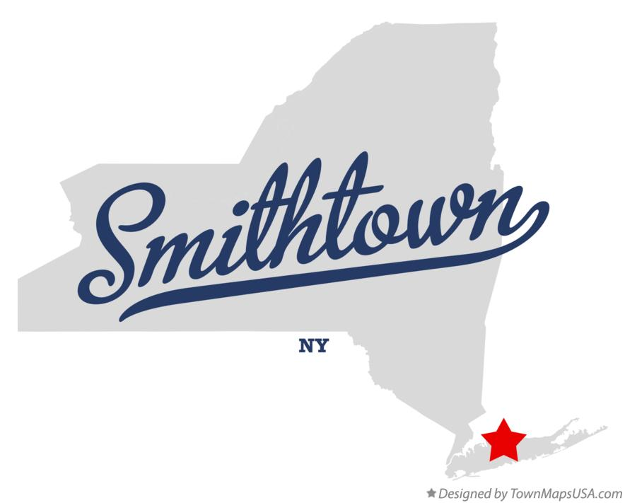 Map of Smithtown New York NY