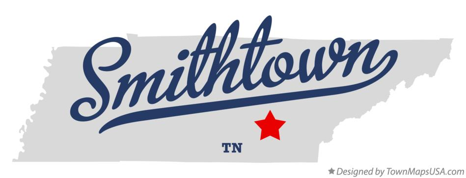 Map of Smithtown Tennessee TN