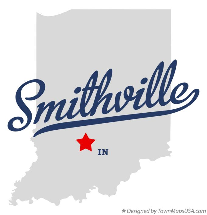 Map of Smithville Indiana IN