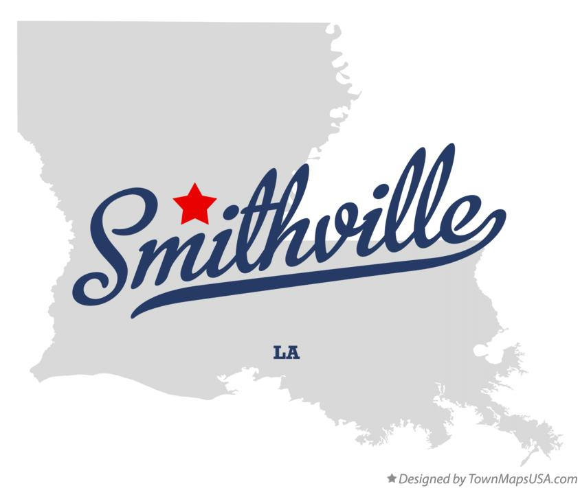 Map of Smithville Louisiana LA