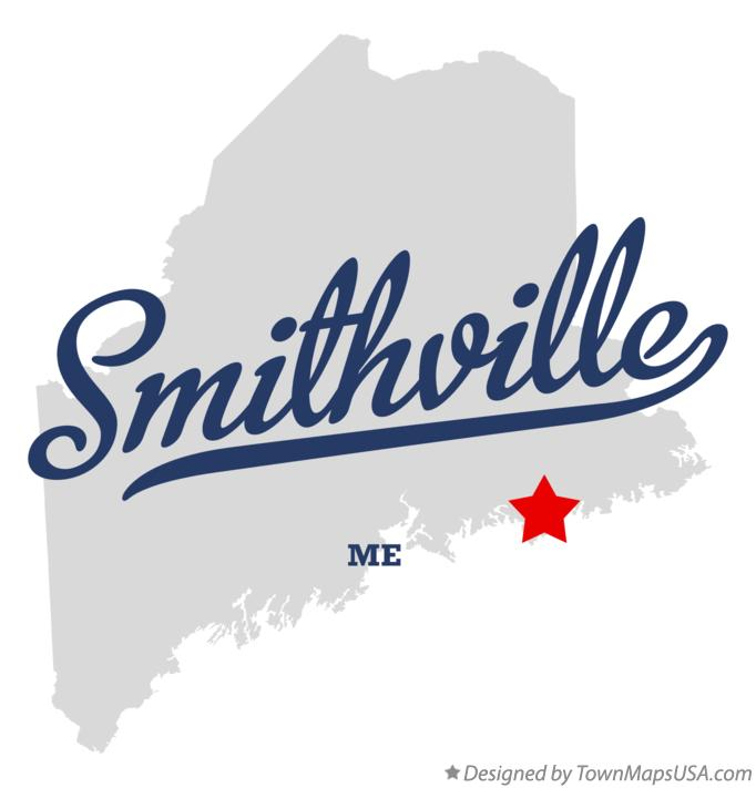 Map of Smithville Maine ME