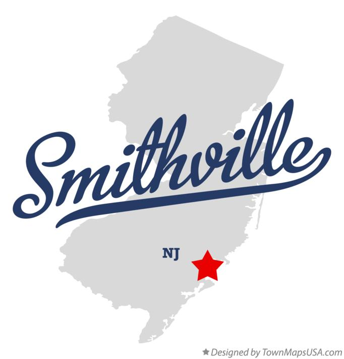 Map of Smithville New Jersey NJ