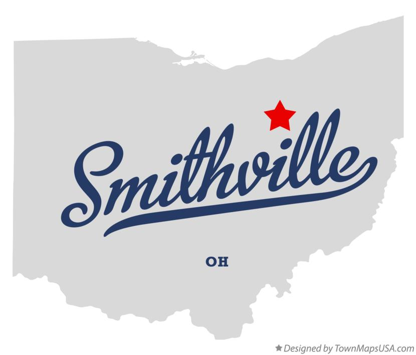 Map of Smithville Ohio OH