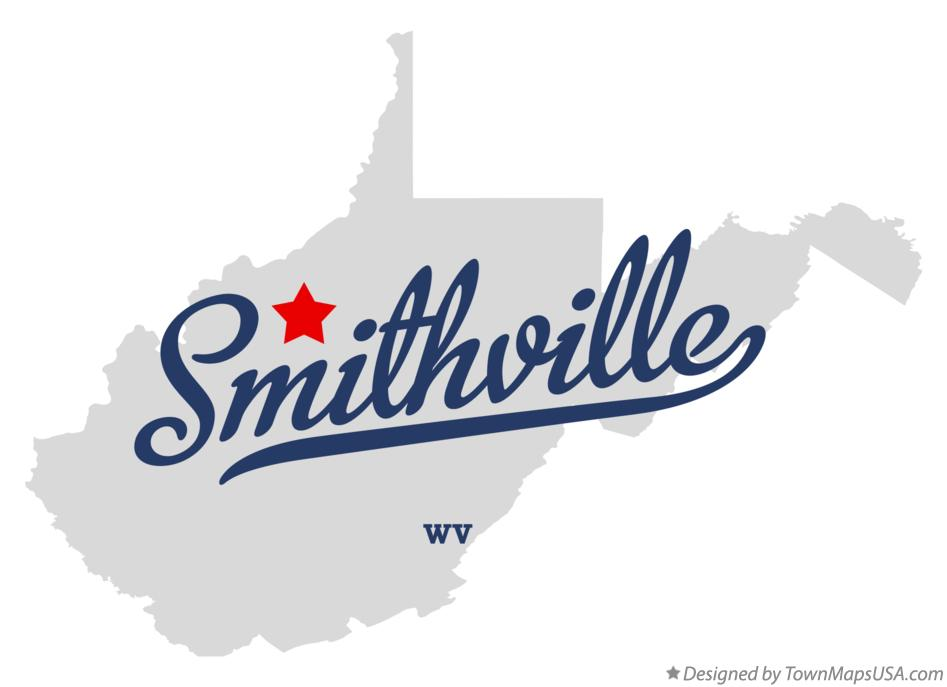 Map of Smithville West Virginia WV