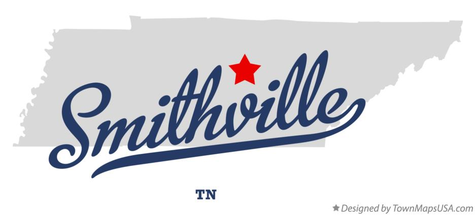 Map of Smithville Tennessee TN