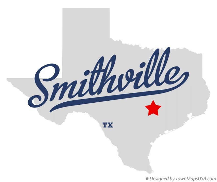 Map of Smithville Texas TX