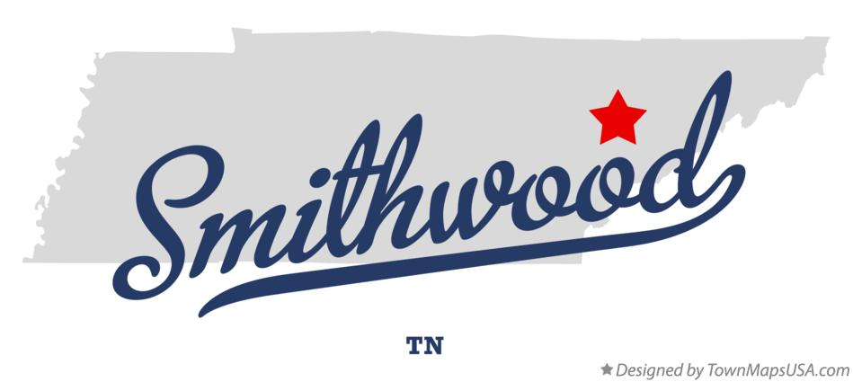 Map of Smithwood Tennessee TN