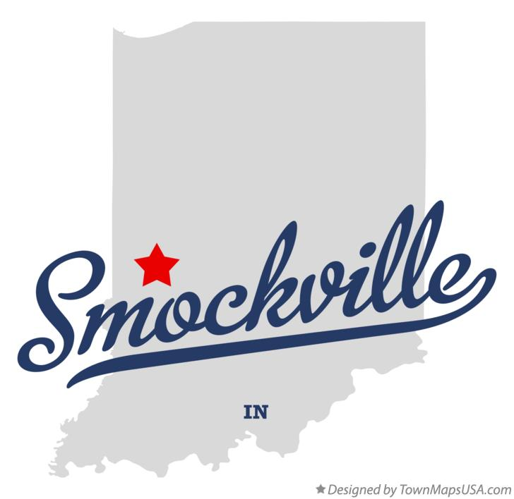 Map of Smockville Indiana IN