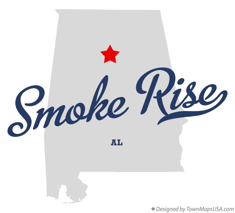 Map of Smoke Rise Alabama AL