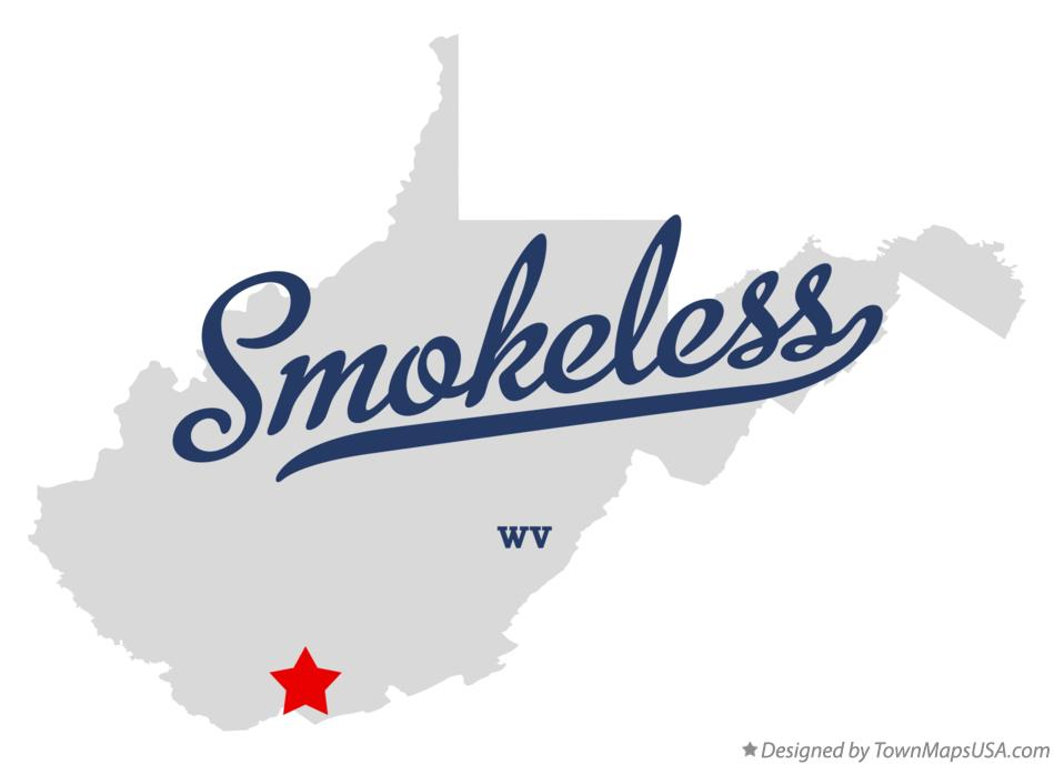 Map of Smokeless West Virginia WV