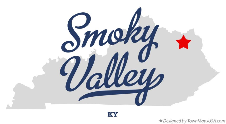 Map of Smoky Valley Kentucky KY