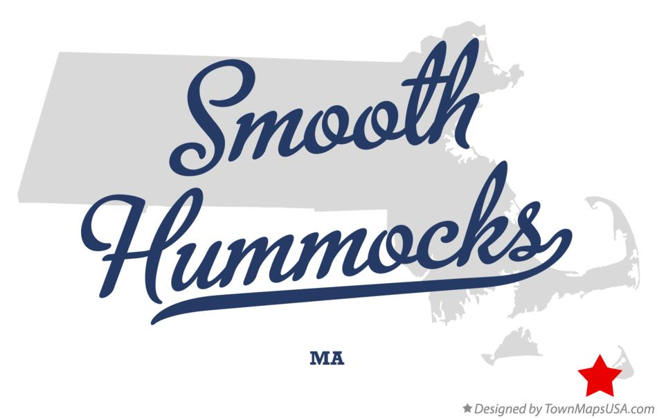 Map of Smooth Hummocks Massachusetts MA