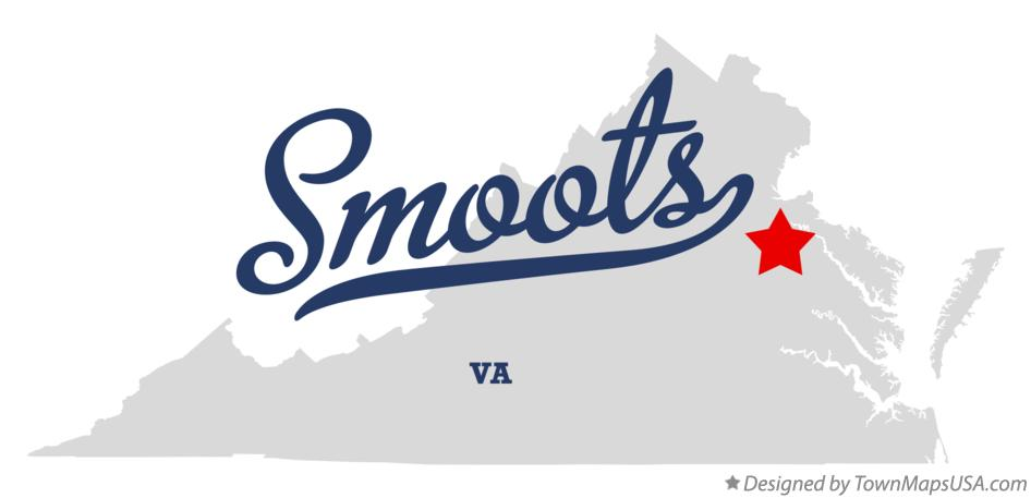 Map of Smoots Virginia VA
