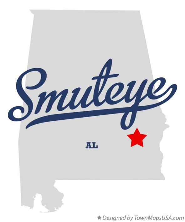 Map of Smuteye Alabama AL