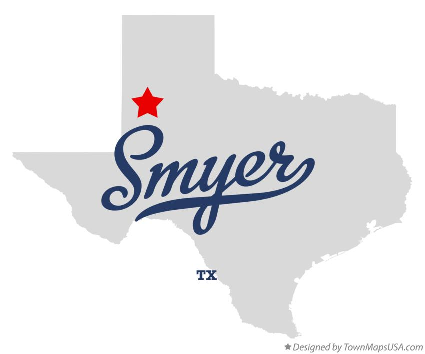 Map of Smyer Texas TX