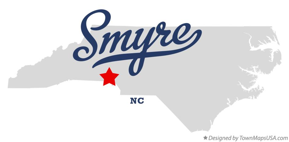 Map of Smyre North Carolina NC