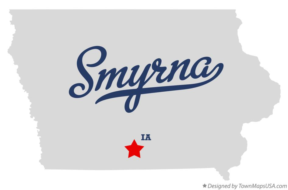 Map of Smyrna Iowa IA