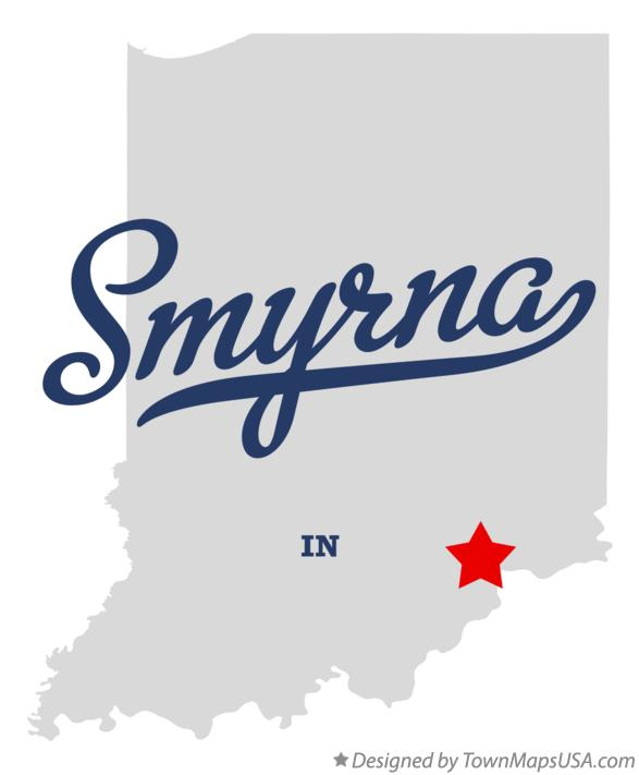 Map of Smyrna Indiana IN