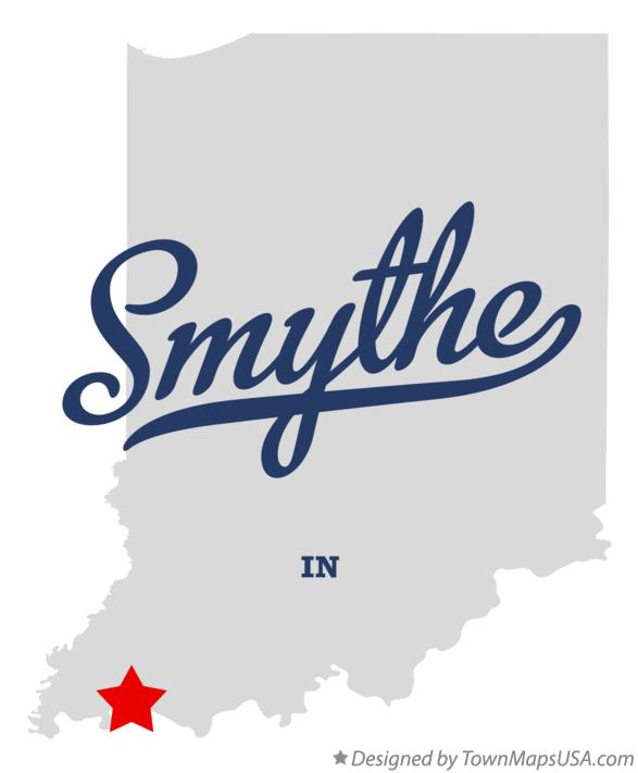 Map of Smythe Indiana IN